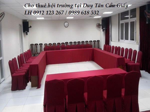 Cho thuê hội trường, phòng đào tạo tại Duy Tân - Cầu Giấy