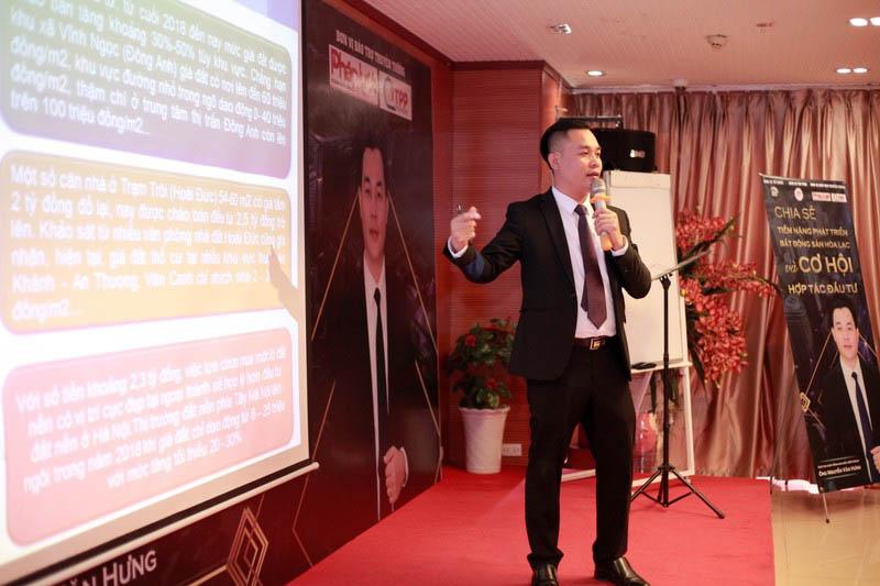 Chia sẻ tiềm năng phát triển BĐS Hòa Lạc của Adogroup tại Hội trường Hà Nội
