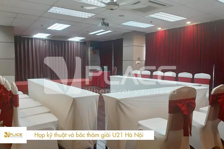Họp kỹ thuật và bốc thăm giải U21 Hà Nội tại hội trường VPLACE
