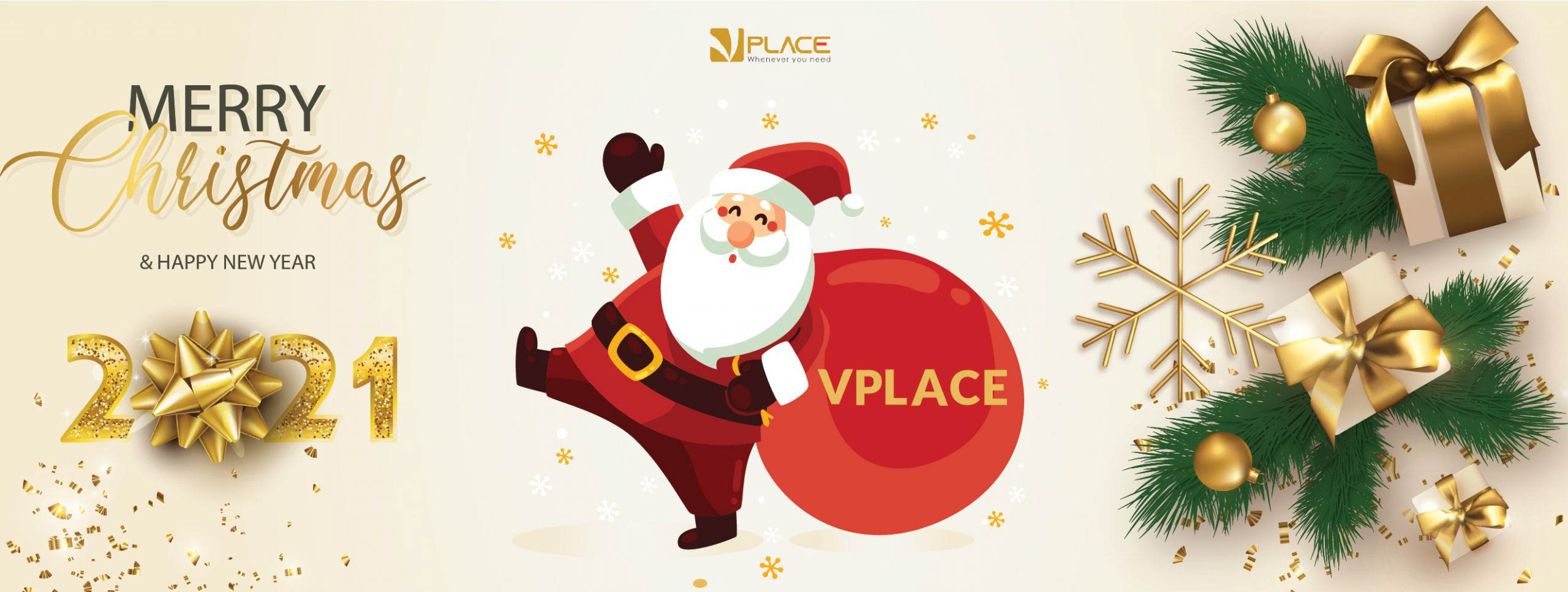 VPLACE Merry Christmas and Happy New Year