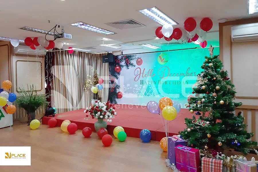 Thuê hội trường tổ chức sự kiện giáng sinh