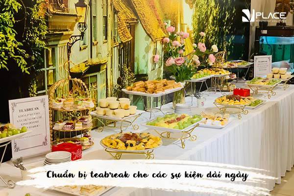 dịch vuh teabreak tại Vplace